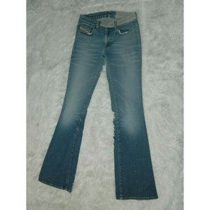 Diesel Jeans Blue Light Wash Two Flare Leg Size 29
